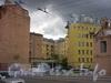 проспект Добролюбова, дом 12. Двор между домами 10 и 12 по проспекту Добролюбова. Фото июль 2004 года