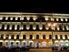 Адмиралтейский пр., д. 8 / Гороховая ул., д. 1. Фрагмент фасада по проспекту. Ночная подсветка. Фото июль 2010 г.