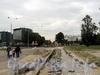 Укладка тротуарной плитки на Константиновском проспекте. Фото сентябрь 2010 г.