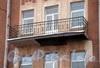 Константиновский пр., д. 20, лит. А. Решетка балкона. Фото декабрь 2009 г.