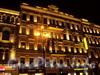 Невский пр., д. 102. Ночная подсветка фасада здания. Фото октябрь 2010 г.