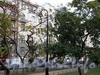 Кронверкский пр., д. 23. Фасад здания. Вид из Александровского парка. Фото октябрь 2010 г.