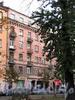Кронверкский пр., д. 25. Фасад здания. Вид из Александровского парка. Фото октябрь 2010 г.