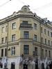 Кронверкский пр., д. 53 / ул. Маркина, д 2. Угловая часть здания. Фото октябрь 2010 г.