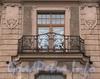 Кронверкский пр., д. 61. Решетка балкона. Фото октябрь 2010 г.