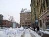 Бульвар по Загородному проспекту перед домами 66-68. Фото январь 2011 г.