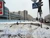 Перспектива нечетной стороны Индустриального проспекта от проспекта Ударников в сторону проспекта Энтузиастов. Фото декабрь 2010 г.