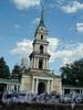Лиговский пр. д.128. Колокольня Крестовоздвиженской церкви. Общий вид. Фото июнь 2007 г.