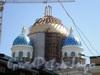 Восстановительные работы на куполе после пожара. Фото 2008 г.