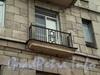 Московский пр., д. 164. Решетка балкона здания. Февраль 2009 г.