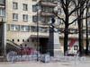 Большеохтинский пр., д. 1, к. 1. Воссозданный бюст-памятник Петру I. Апрель 2009 г.