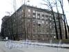 Бол. Сампсониевский пр., д. 108. Фасад здания со стороны Новосильцевского переулка. Апрель 2009 г.