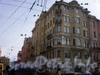 Суворовский пр., д. 49/Заячий пер., д. 1. Общий вид здания. Апрель 2009 г.