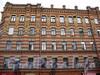 Английский пр., д. 39 / Канонерская ул., д. 27. Доходный дом А. В. Красавина. Фрагмент фасада по проспекту. Фото август 2009 г.