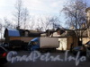 Большеохтинский пр., д. 3. Здание Охтинского пожарного резерва. (ОГПС №16 Красногвардейского р-она). Вид со двора. Фото апрель 2009 г.