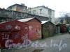 Измайловский пр., д. 18. Гаражи во дворе. Фото октябрь 2008 г.
