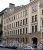 Лермонтовский пр., д. 10 (левая часть). Бывший доходный дом. Фасад здания. Фото август 2009 г.