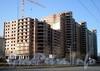 Пр. Славы, д. 51. Строительство корпуса жилого комплекса «Славбург». Фото апрель 2009 г.
