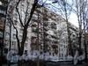 Пр. Мориса Тореза, д. 38, корп. 1.жилой дом. Фрагмент фасада. Вид с Институтского проспекта. Фото март 2009 г.