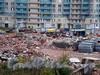 Пр. Мориса Тореза, д. 118. Работы по разборке бывшего здания ДК завода «Светлана». Фото октябрь 2009 г.