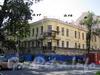 Большой пр. В.О., д. 17 / 5-я линия В.О., д. 16 (левая часть). Дом А. А. Куракиной (Э. П. Шаффе). Реставрация фасадов. Фото август 2009 г.
