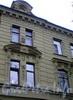 Большой пр., В.О., д. 44. Особняк С. П. Петрова. Фрагмент фасада здания. Фото октябрь 2009 г.
