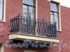 Большой пр., В.О., д. 56. Доходный дом X. Г. Борхова. Решетка балкона. Фото октябрь 2009 г.