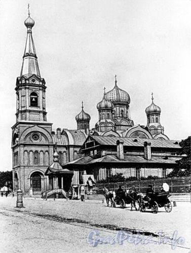 Старо-Петергофский пр., д. 6. Церковь св. Екатерины. Ныне на этом месте кинотеатр «Москва». Фото с сайта encspb.ru