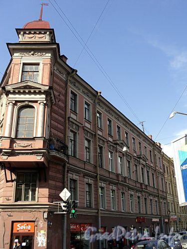 Клинский пр., д. 27, лит.А / Московский пр., д. 42. Фасад по Клинскому проспекту. Фото май 2010 г.