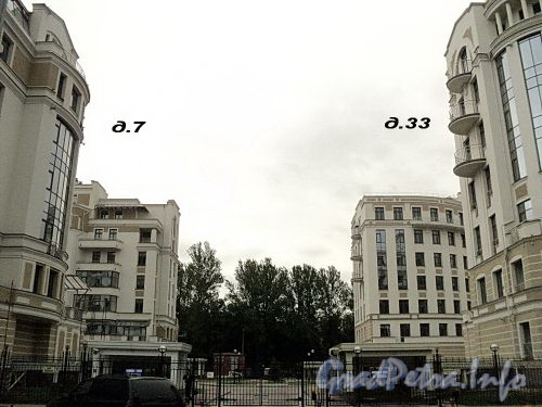 Морской пр., д. 33 / Кемская ул., д. 7. Элитный жилой комплекс. Фото сентябрь 2010 г.