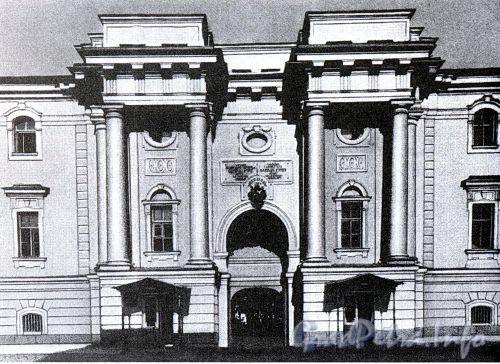 Здание Старого Арсенала, переданное Окружному суду. Фото 1890-х гг. (из книги «Литейная часть. От Невы до Кирочной. 1710-1918»)