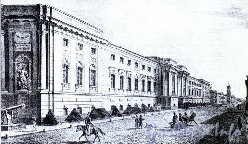 Здание Старого Арсенала. 1822 г. (из книги «Литейная часть. От Невы до Кирочной. 1710-1918»)