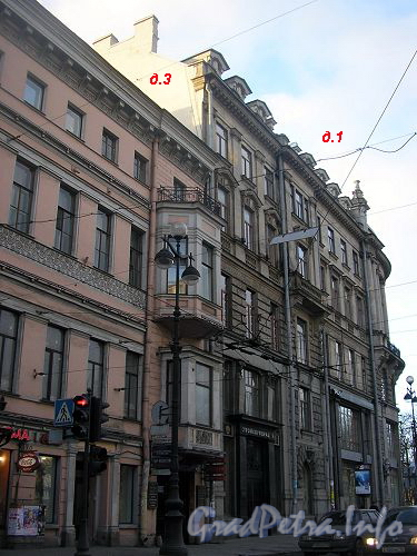 Дома 1 и 3 по Невскому проспекту.
