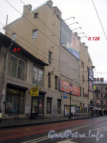 Невский пр., дом 128. Торец дома со стороны Суворовскому пр.