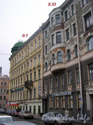Большой пр., П.С., д. 1. Фасад по улице Блохина. Фото ноябрь 2006 г.
