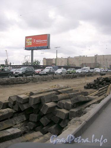 Реконструкция трамвайных путей в районе Московского вокзала. Фото 2007 г.