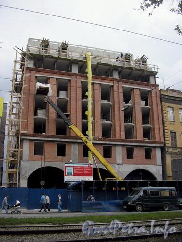 Лиговский пр. д.54, строительство отеля «Ibis». Фото 2006 г.