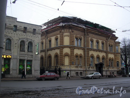 Лиговский пр. д.62, особняк Ф. К. Сан-Галли. Реставрация крыши. Фото 2006 г.