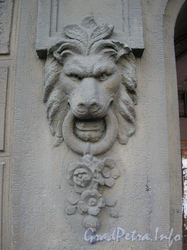 Лиговский пр.д.65, оформление парадного дома. Фото 2005 г.