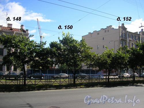 Лиговский пр. д.д. 148-152, строительная площадка после сноса старого дома по адресу Лиговский пр. д. 150. Фото 2005 года.