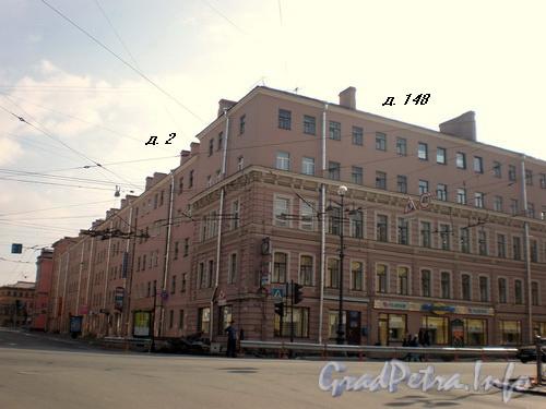 Перекресток Невского проспекта и Полтавской улицы (Невский пр., д. 148/ Полтавская ул., д.2) Фото 2008 г.
