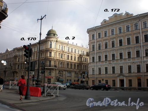 Невский пр., д.д. 172, 170/Исполкомская ул., д. 2. Фото 2008 г.