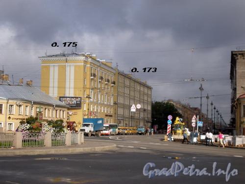 Невский пр., д.д. 173, 175, общий вид зданий. Фото 2008 г.