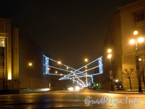 Новогоднее оформление Суворовского проспекта. Декабрь 2008 г.