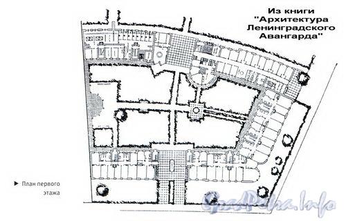 Каменноостровский пр., д. 55. Кооперативный дом совторгслужащих, план первого этажа.