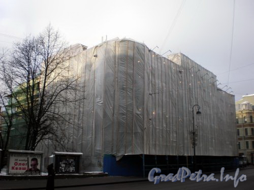 Каменноостровский пр., д. 10. Ремонт фасада здания. Ноябрь 2008 г.