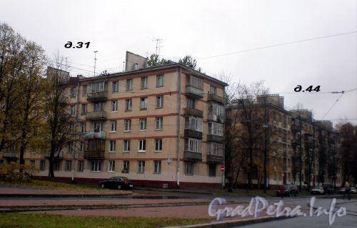 Дом 31 по проспекту Юрия Гагарина и дом 44 по Авиационной улице Октябрь 2008 г.