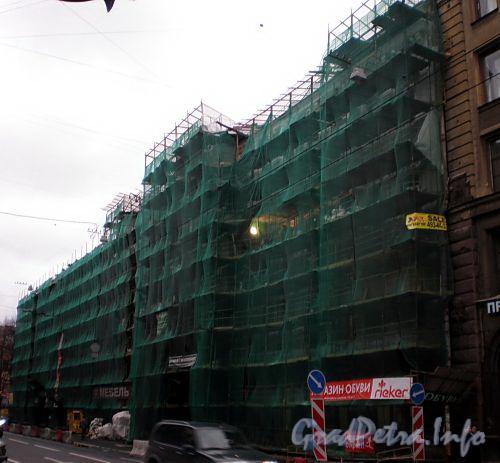 Загородный пр., д. 42. Дом В.Е.Петрова. Реставрация фасада. Фото ноябрь 2008 г.