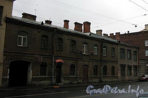 Малый пр., В.О., д. 41. Здание рынка Ширяева (бани Христофорова). Фасад здания. Фото октябрь 2009 г.