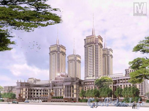 Московский проспект, дом 183-185. Проект жилого комплекса «Граф Орлов». Фото с сайта «Архитектурная студия M4».